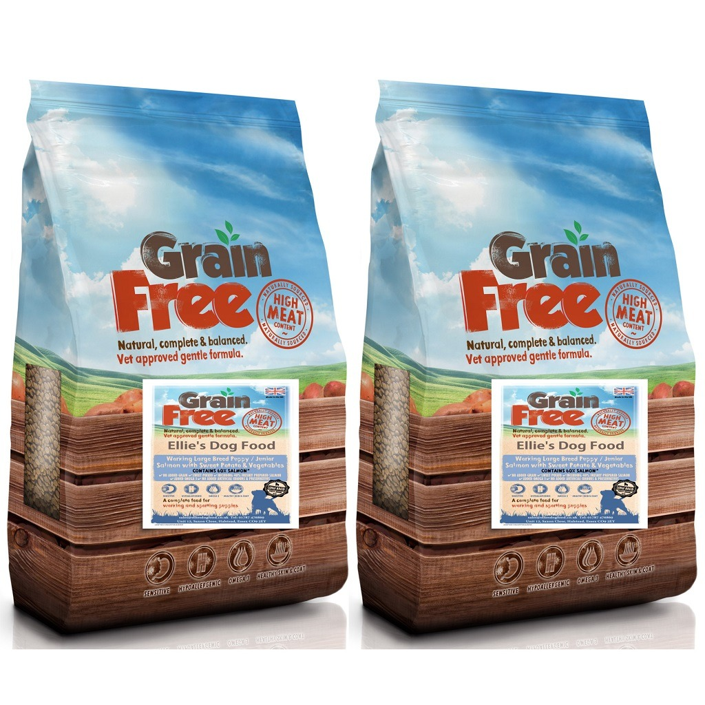 Grain Free Large Breed Puppy/Junior 60% Salmon with Sweet Potato & Vegetables Complete Dry Dog Food