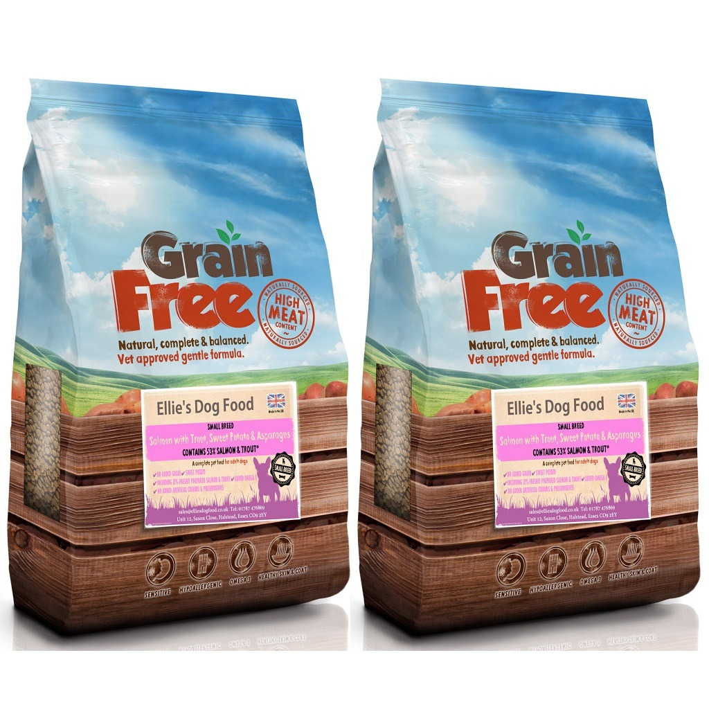 Grain Free Adult Small Breed 50% Salmon with Trout, Sweet Potato & Asparagus Complete Dry Dog Food