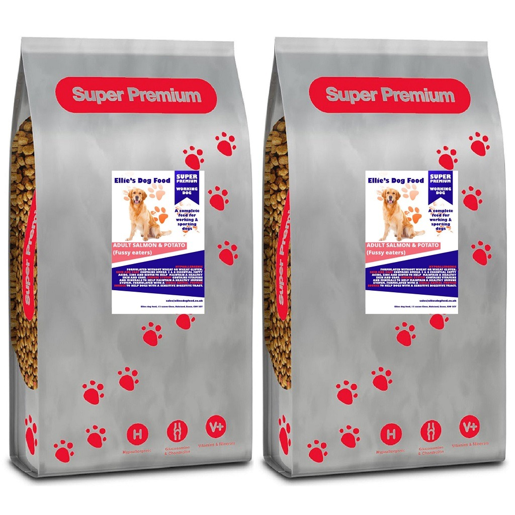 Super Premium Hypoallergenic Adult Salmon & Potato Complete Dog Food (Fussy eaters)