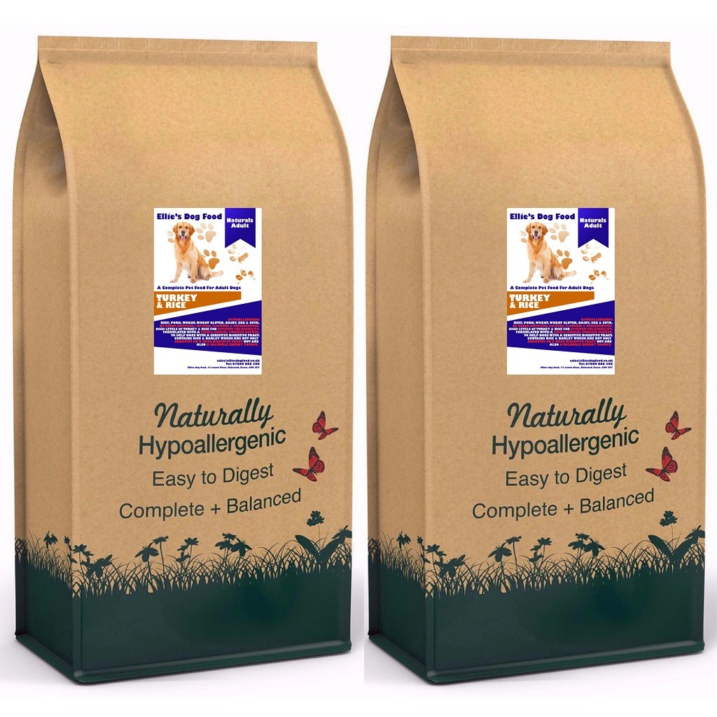 Naturally Preserved & Hypo-allergenic Adult Turkey & Rice Complete Dry Dog Food