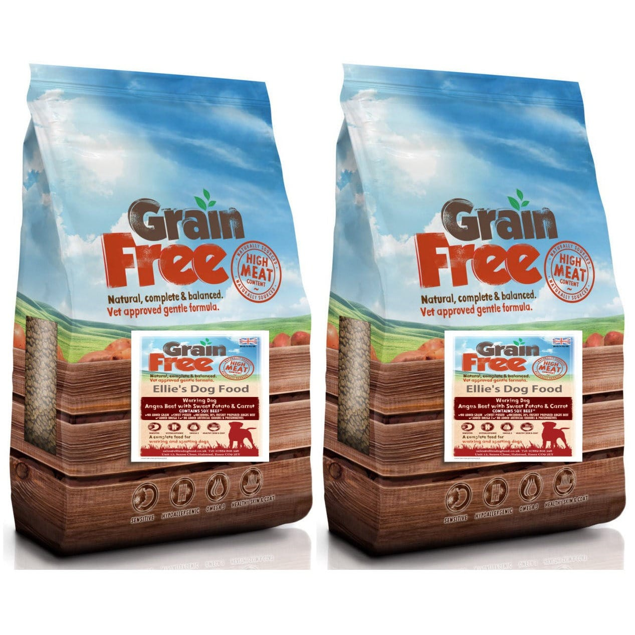 Grain Free Adult 50% Angus Beef with Sweet Potato & Carrot Complete Dry Dog Food